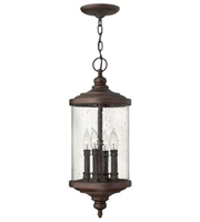 Picture for category Hinkley 1752VZ Barrington Outdoor Lighting Lamps 9in Victorian Bronze 4-light