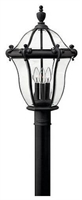 Picture for category Hinkley 2441MB San Clemente Outdoor Lighting Lamps 14in Museum Black 3-light