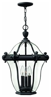 Picture for category Hinkley 2442MB San Clemente Outdoor Lighting Lamps 14in Museum Black 3-light