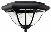 Picture for category Hinkley 2443MB San Clemente Outdoor Lighting Lamps 14in Museum Black 2-light