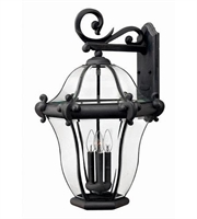 Picture for category Hinkley 2446MB San Clemente Outdoor Lighting Lamps 18in Museum Black 4-light