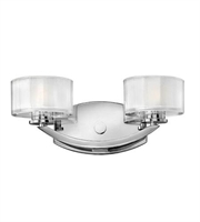 Picture for category Hinkley 5592CM Meridian Bath Lighting 14in Chrome Metal 2-light