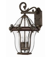Picture for category Hinkley 2444CB San Clemente Outdoor Lighting Lamps 12in Copper Bronze 3-light
