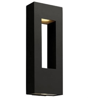 Picture for category Hinkley 1649SK-LED Atlantis Outdoor Lighting Lamps 9in Satin Black 2-light