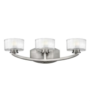 Picture for category Hinkley 5593BN Meridian Bath Lighting 21in Brushed Nickel Metal 3-light
