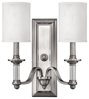 Picture for category Hinkley 4792BN Sussex Wall Sconces 16in Brushed Nickel Metal 2-light