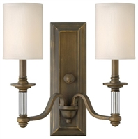 Picture for category Hinkley 4792EZ Sussex Wall Sconces 16in English Bronze Metal 2-light