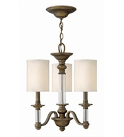 Picture for category Hinkley 4793EZ Sussex Chandeliers 16in English Bronze Metal 3-light