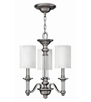 Picture for category Hinkley 4793BN Sussex Chandeliers 16in Brushed Nickel Metal 3-light