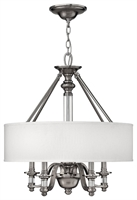 Picture for category Hinkley 4797BN Sussex Chandeliers 23in Brushed Nickel Metal 4-light