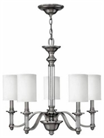 Picture for category Hinkley 4795BN Sussex Chandeliers 26in Brushed Nickel Metal 5-light