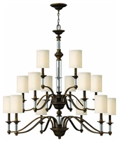 Picture for category Hinkley 4799EZ Sussex Chandeliers 47in English Bronze Metal 15-light