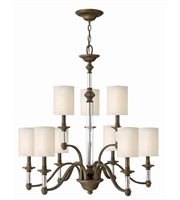 Picture for category Hinkley 4798EZ Sussex Chandeliers 32in English Bronze Metal 9-light
