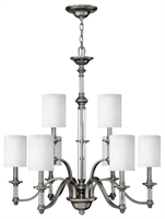 Picture for category Hinkley 4798BN Sussex Chandeliers 32in Brushed Nickel Metal 9-light
