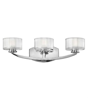 Picture for category Hinkley 5593CM Meridian Bath Lighting 21in Chrome Metal 3-light