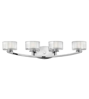 Picture for category Hinkley 5594CM Meridian Bath Lighting 29in Chrome Metal 4-light