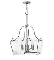 Picture for category Hinkley 3004PL Wingate Chandeliers 20in Polished Antique Nickel Metal 6-light