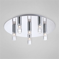 Picture for category Eurofase 25675-016 Cube Flush Mounts CHROME 6-light