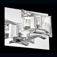 Picture for category Eurofase 26347-011 Uzo Wall Sconces 8in CHROME 1-light