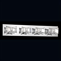 Picture for category Eurofase 26349-015 Uzo Bath Lighting 32in CHROME 4-light