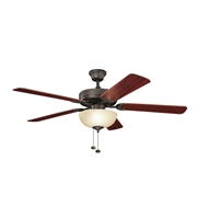 Picture for category Kichler 403SNB Basics Revisited Ceiling Fans 52in Satin Natural Bronze