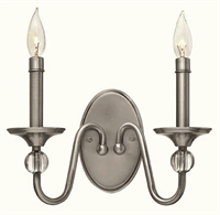 Picture for category Hinkley 4952PL Eleanor Wall Sconces 13in Polished Antique Nickel Steel 2-light
