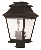 Picture for category Livex 20238-07 Hathaway Outdoor Post Light Bronze 3-light