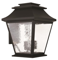 Picture for category Livex 20245-04 Hathaway Outdoor Wall Sconces 18in Black 5-light