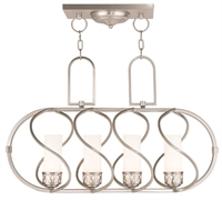 Picture for category Livex 47195-91 Westfield Island Lighting 12in Brushed Nickel 4-light