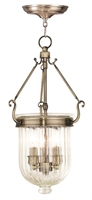 Picture for category Livex 50515-01 Coventry Pendants Antique Brass 3-light