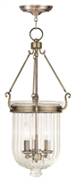Picture for category Livex 50517-01 Coventry Pendants Antique Brass 3-light