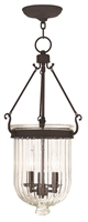 Picture for category Livex 50517-07 Coventry Pendants Bronze 3-light