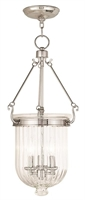 Picture for category Livex 50517-35 Coventry Pendants Polished Nickel 3-light