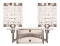 Picture for category Livex 50562-91 Grammercy Bath Lighting 14in Brushed Nickel 2-light