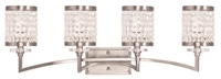 Picture for category Livex 50564-91 Grammercy Bath Lighting 33in Brushed Nickel 4-light