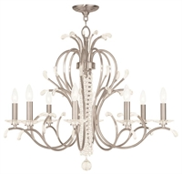 Picture for category Livex Lighting 51008-91 Chandeliers Brushed Nickel 8-light