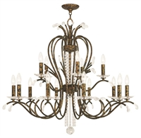 Picture for category Livex 51009-71 Serafina Chandeliers Hand Applied Venetian Golden Bronze