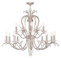 Picture for category Livex 51009-91 Serafina Chandeliers Brushed Nickel