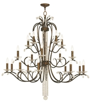 Picture for category Livex 51010-71 Serafina Chandeliers Hand Applied Venetian Golden Bronze