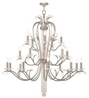 Picture for category Livex Lighting 51010-91 Chandeliers Brushed Nickel