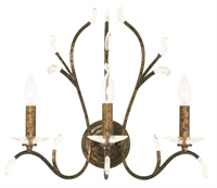 Picture for category Livex 51013-71 Serafina Wall Sconces 20in Hand Applied Venetian Golden Bronze