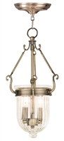 Picture for category Livex 50513-01 Coventry Pendants Antique Brass 2-light