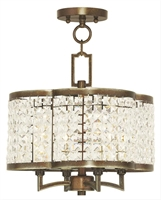 Picture for category Livex 50574-64 Grammercy Chandeliers Hand Painted Palacial Bronze 4-light