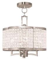 Picture for category Livex 50574-91 Grammercy Chandeliers Brushed Nickel 4-light