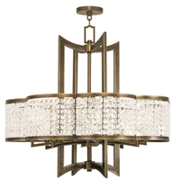 Picture for category Livex 50578-64 Grammercy Chandeliers Hand Painted Palacial Bronze 8-light