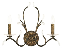 Picture for category Livex 51002-71 Serafina Wall Sconces 19in Hand Applied Venetian Golden Bronze