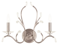 Picture for category Livex 51002-91 Serafina Wall Sconces 19in Brushed Nickel 2-light