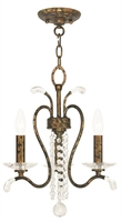 Picture for category Livex 51003-71 Serafina Chandeliers Hand Applied Venetian Golden Bronze