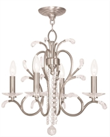 Picture for category Livex 51004-91 Serafina Mini Chandeliers Brushed Nickel 4-light