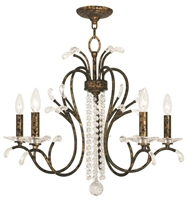 Picture for category Livex 51005-71 Serafina Chandeliers Hand Applied Venetian Golden Bronze